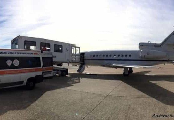 Da Patti al Bambin Gesù di Roma con un volo dell'aeronautica